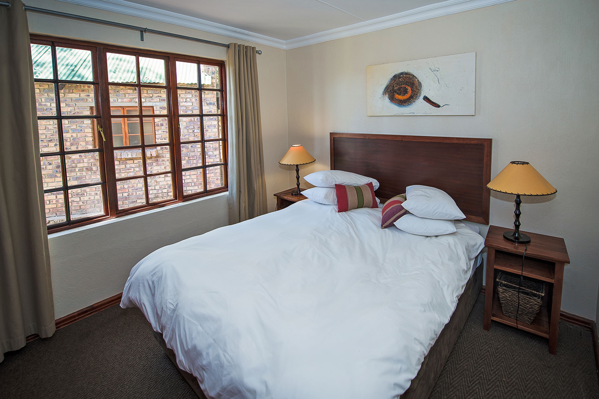 Main bedroom of self-catering suites