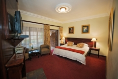Eight of the rooms have double beds