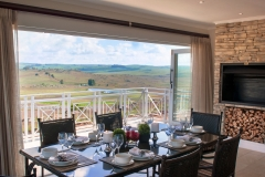 Enjoy delicious meals on the Family Superior Villa patio