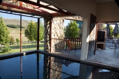 Heated indoor pool with great views
