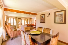 The Family Cottage's spacious open-plan living area