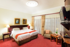 Four of the rooms have twin beds