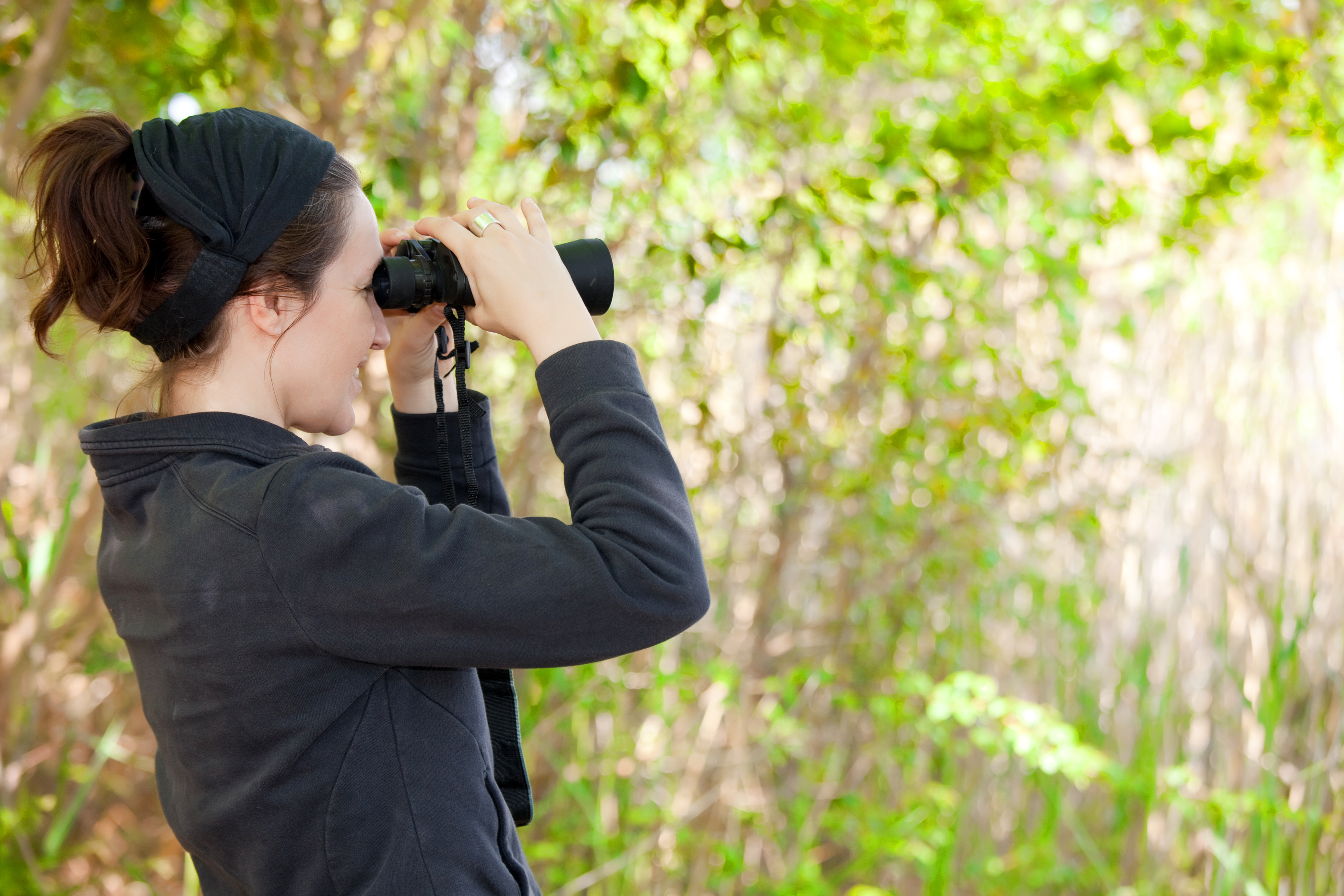 Bird Watching is a popular pass time with guests